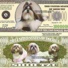 SHIH TZU DOG PUPPY MILLION DOLLAR BILLS x 4 GIFT NEW