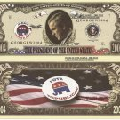 GEORGE W BUSH REPUBLICAN RE-ELECT 2004 DOLLAR BILLS x 4