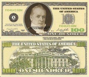 CASINO PARTY POKER NIGHT MONEY 100 DOLLAR BILLS x 25