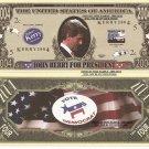 JOHN KERRY DEMOCRAT FOR PRESIDENT 2004 DOLLAR BILLS x 4