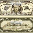 AL CAPONE SCAR FACE GANGSTER $100,000 DOLLAR BILLS x 4