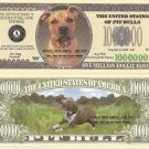 PIT BULL TERRIER DOG ONE MILLION DOLLAR BILLS x 4 NEW