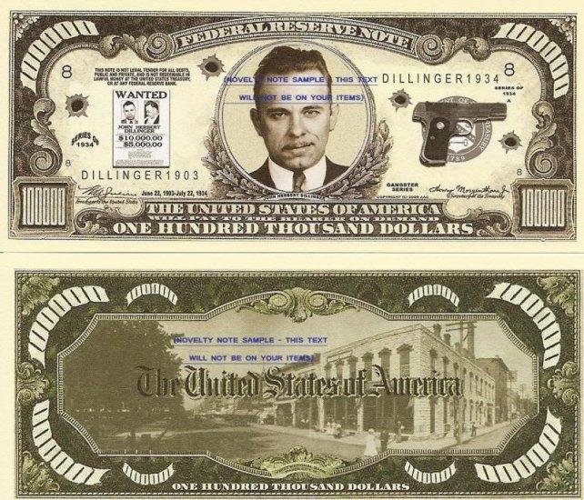 100000 Dollars ... $100000 Bill