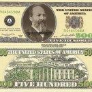 CASINO PARTY POKER NIGHT MONEY 500 DOLLAR BILLS x 4