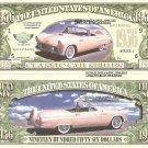 AMERICAN CLASSIC CARS DOLLAR BILLS SET of 5 NEW GIFT