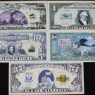UNITED STATES POSTAL SERVICE USPS HISTORY BILLS SET of 5