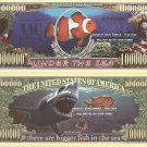 CLOWN FISH SHARK UNDER THE SEA MILLION DOLLAR BILLS x 4