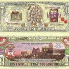 LAS VEGAS USA SIN CITY GAMBLING CASINO DOLLAR BILLS x 4