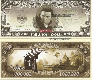 CLASSIC HORROR MOVIES MILLION DOLLAR BILLS SET of 18