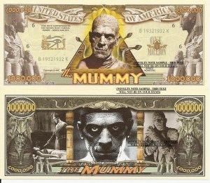 THE MUMMY BORIS KARLOFF MILLION DOLLAR BILLS x 4 NEW