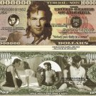 PATRICK SWAYZE COMMEMORATIVE MILLION DOLLAR BILLS x 4