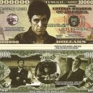 SCARFACE AL PACINO TONY MONTANA MILLION DOLLAR BILLS x 4