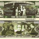 THE MUNSTERS 1964 1966 MILLION DOLLAR BILLS x 4 NEW