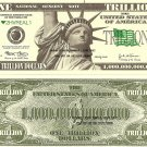 Statue of Liberty New York City Trillion Dollar Bills x 4 United States America