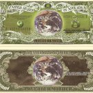 Mother Earth Save Our Planet Green Dollar Bills x 4 New