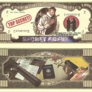 Secret Agent Spy Top Secret Million Dollar Bills x 4 Only the Cunning Survive