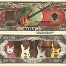 Bass Classic Guitar Drums Keyboard Musical Instruments Dollar Bills Set of 8