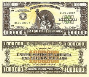 International Association Millionaires Dollar Bills x 2 United States America