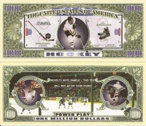 Ice Hockey Power Play One Million Dollar Bills x 4