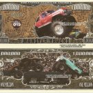 Monster Trucks Sport Million Dollar Bills x 4 New American United States