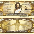 In Loving Memory of Whitney Houston Million Dollar Bills x 4 1963 2012