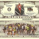Marathon Runner Million Dollar Bills x 4 Long Distance Running Event Road Race