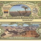 Grand Canyon National Park Yaki Point Dollar Bills x 4 Arizona America