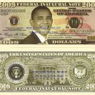 Barack H Obama President Inaugural 2009 Dollar Bills x 4 United States America