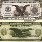 American Eagle Stars Stripes Billion Dollar Bills x 4 United States