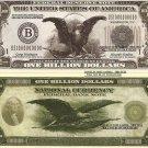 American Eagle Stars Stripes Billion Dollar Bills x 4 United States