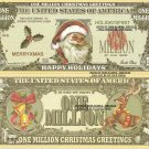 Santa Claus Happy Holidays Christmas Million Dollar Bills x 4 New Greetings