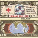 Tsunami Relief 2004/2005 One Million Dollar Bills x 4
