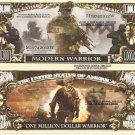 Modern Warrior One Million Dollar Bills x 4 Soldier Warfare Battle Grounds