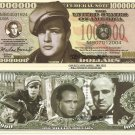 Marlon Brando Million Dollar Bills x 4 American Icon Film Actor