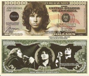 James Douglas Jim Morrison Million Dollar Bills x 4 Doors American Singer Songwriter