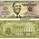 Barack H Obama President Re Election Commemorative 2013 Federal Dollar Bills x 4