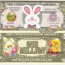 Easter Bunny Greetings Holiday Fun Million Dollar Bills x 4 Happy Bunnies Rabbit