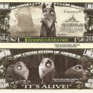 Frankenweenie Its Alive 1984 2012 Million Dollar Bills x 4