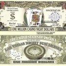 Blackjack Craps Roulette Poker Million Casino Night Dollar Bills Set of 8 Las Vegas