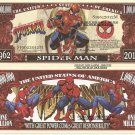 Spider Man Peter Parker Amazing Adventures Dollar Bills x 4 Comic Book 1962 2012