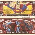 Superman Clark Kent The Man of Steel Million Dollar Bills x 4 Comic Book Hero