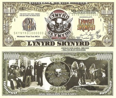 Lynyrd Skynyrd Call Me The Breeze Million Dollar Bills x 4 Southern Rock Band