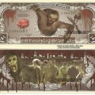 Zombie Apocalypse One Million Dollar Bills x 4 Undead Monsters