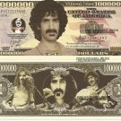 Frank Vincent Zappa Commemorative Million Dollar Bills x 4 Rock Music Singer