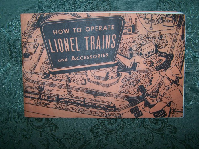 """""""How To Operate Lionel Trains & Accessories"""" Copyright 1953"""