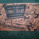 """How To Operate Lionel Trains & Accessories"" Copyright 1953"