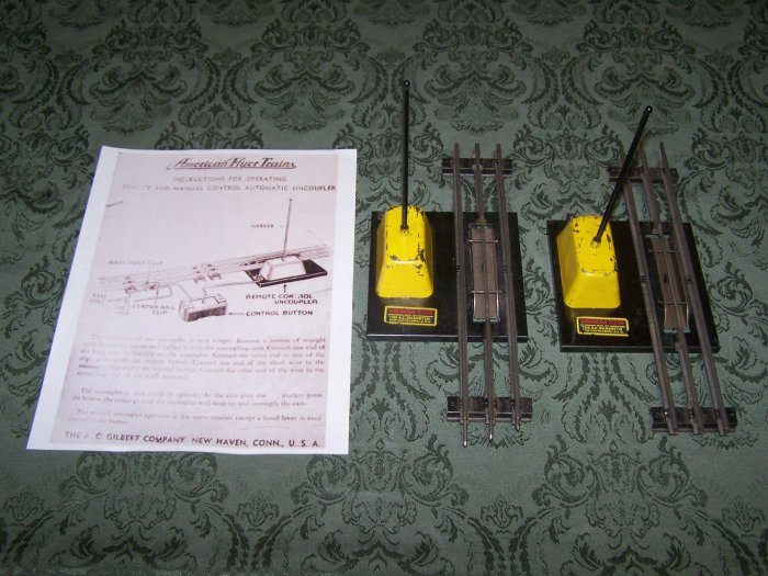 2- American Flyer (M2057) 3 Rail Uncouplers With Instructions