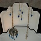 Swarovski Crystal Necklace, Earrings, and Bracelet