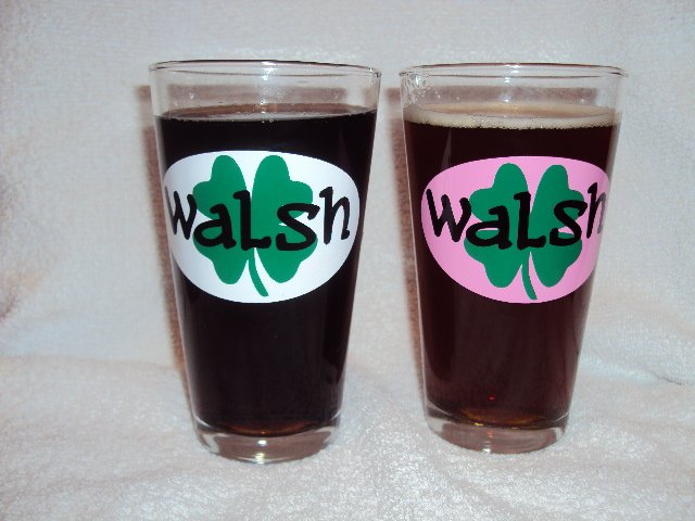 Personalized St. Patrick's Day Beer Pint Glass