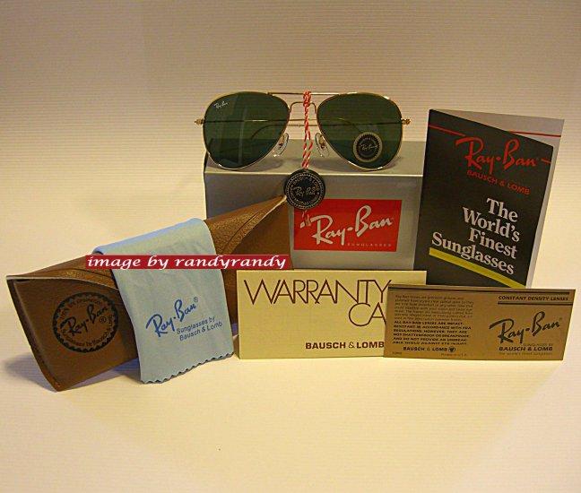 Classic B&L USA Ray-Ban Aviator SMALL GOLD-METAL GREEN-LENS